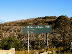 Parking Area for walk to Rainbow Lake