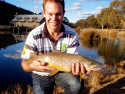 Andy's Moonbah Hut Brown Trout