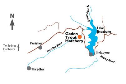 map to Gadden Trout  Hatchery